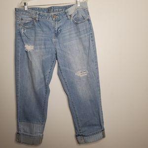 NY&CO Soho Cropped Boyfriend Jeans size 12